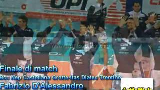 16-01-2011: Finale match NewMater-Trento collegamento Lattemiele Fabrizio D'Alessandro