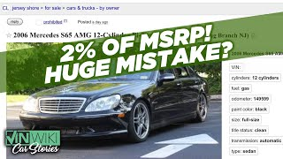 I bought an S65 AMG for 98% off MSRP!