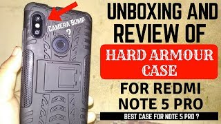 Unboxing And Review Of Hard Armour Case For Redmi Note 5 Pro | Best Case For Note 5 Pro ?