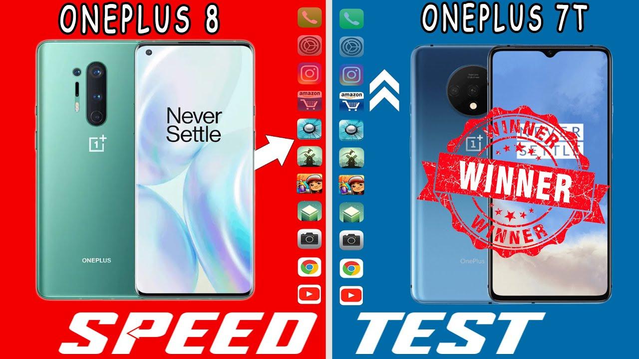 Oneplus 8 vs Oneplus 7T Speed Test | Sd 865 vs Sd 855+ | Op7T beats Op8!!