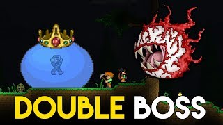 DOUBLE BOSS FIGHT! - King Slime & Cthulhu! - Let's Play Vanilla Terraria - Gameplay : Part 4