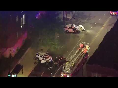 Raw Video: Wild Police Chase Throughout Chicago Leaves Woman Killed, 5 Injured