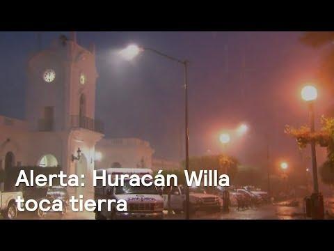 Huracán Willa toca tierra en Sinaloa