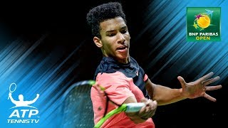 Auger-Aliassime scores first ATP win; Monfils also through    Indian Wells 2018 Highlights Day 2