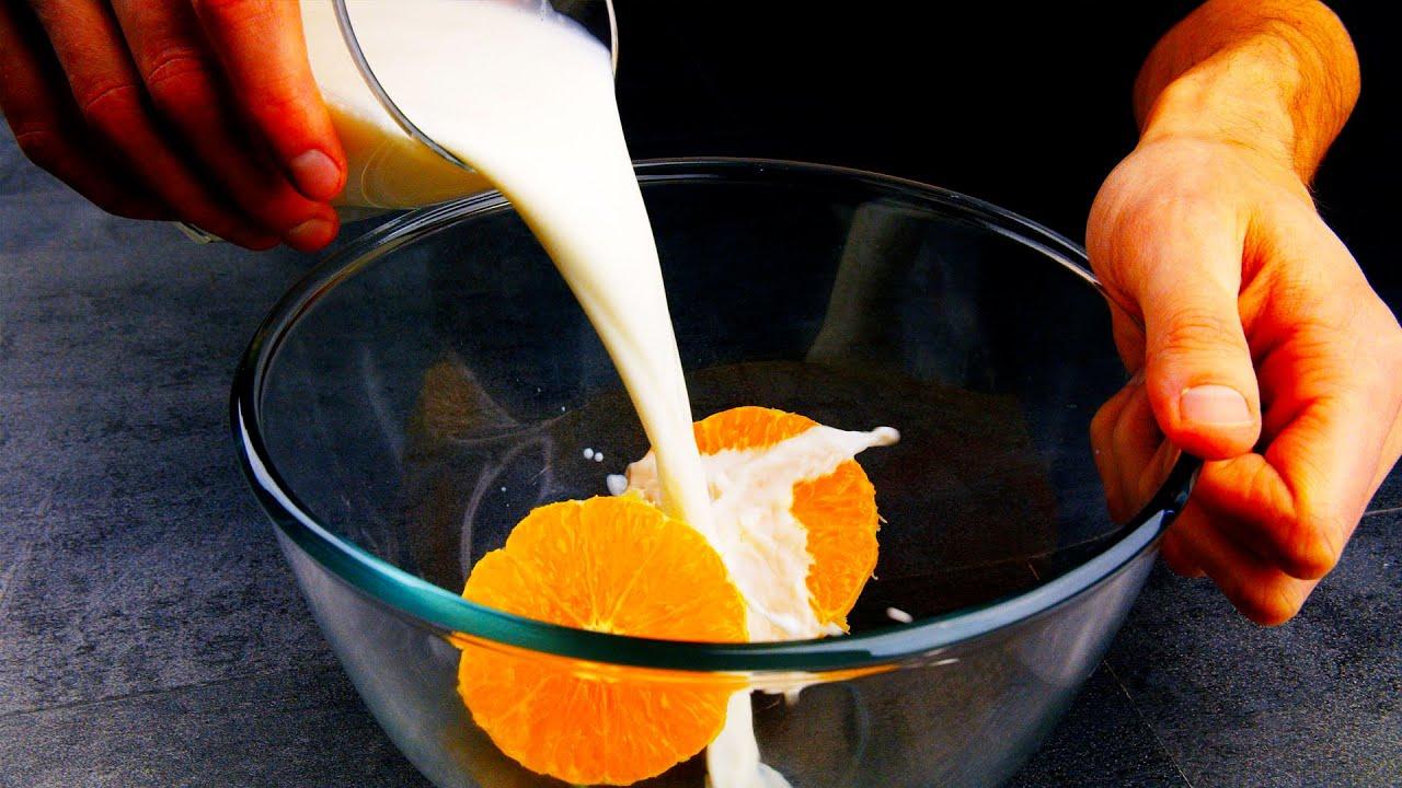 Гениально! Мы просто смешали молоко с апельсином! Готовим уже неделю и не надоедает!