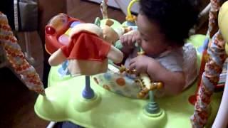 Amaya in her Winnie the Pooh Jumper