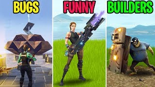 NEW GUNS IN FORTNITEMARES! - BUGS vs FUNNY vs BUILDERS - Fortnite Funny Moments