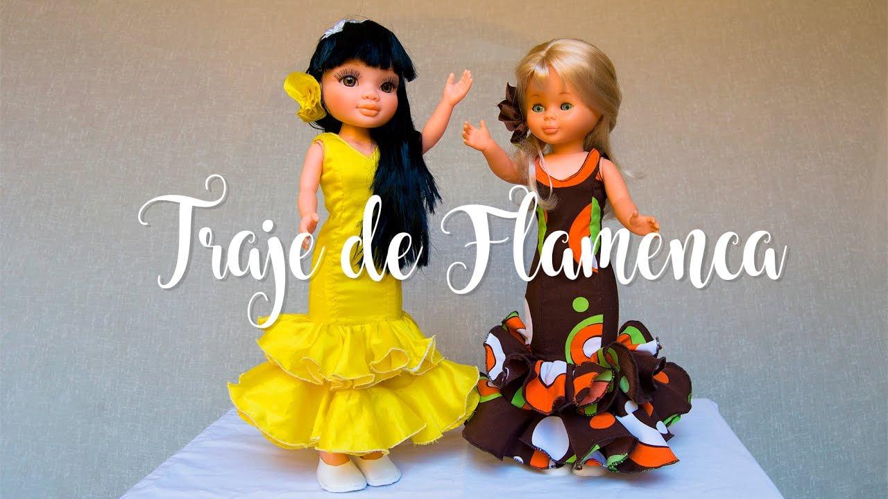 Traje De Flamenca Para Muñeca Nancy Laly Y Su Cana Tutorial Visita