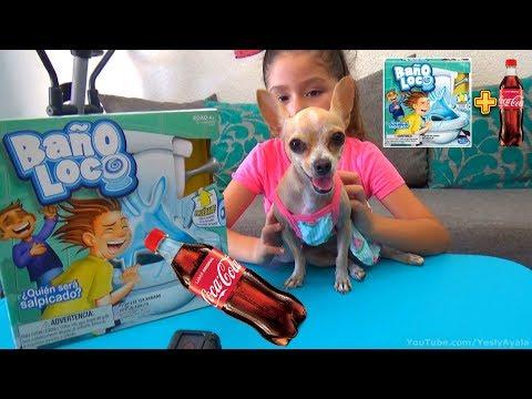 JUGANDO BAÑO LOCO CON COCA-COLA | Toilet Trouble Challenge | Reto | Unboxing