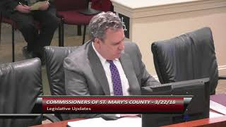 3/22/18 - Commissioners of St. Mary's County Business Meeting