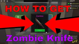 HOW TO GET THE ZOMBIE LEGENDARY KNIFE!!!!! (ROBLOX ASSASSINS ZOMBIE KNIFE)