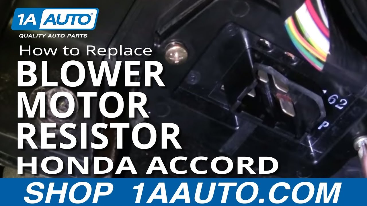 How To Install Replace Ac Heater Blower Motor Fan Speed Control 1991 Isuzu Trooper Fuse Box Diagram Resistor Accord 98 02 1aautocom