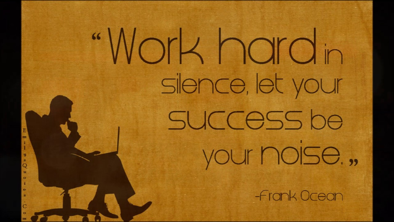 For The Workplace Motivational Quotes: HARD WORK NEVER FAILS:
