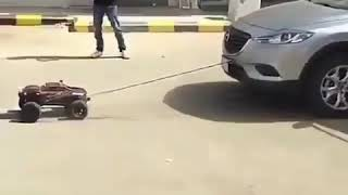 CAN A RC CAR PULL SUV |FAKE OR REAL|
