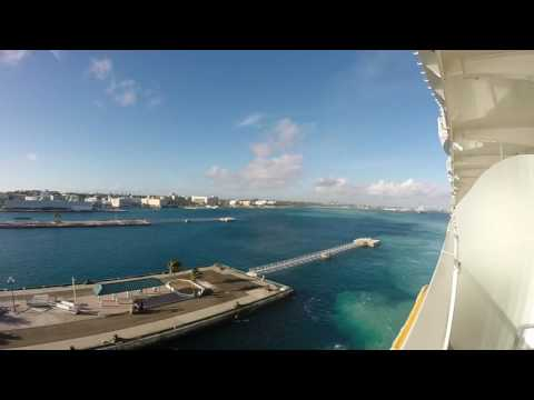 Royal Caribbean Oasis of the Seas Nassau Arrival And Departure GoPro Footage