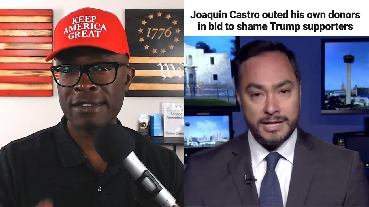Joaquin Castro LEAKS List of Trump Donors on TWITTER!