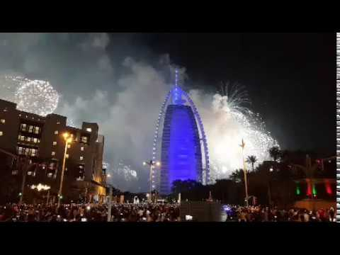 Live Dubai New Year Fire Works 2018 | Burj Al Arab |