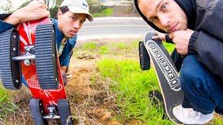 TANK TRACKS SKATEBOARD WHEELS!! The Ultimate Off-road Skateboard!!