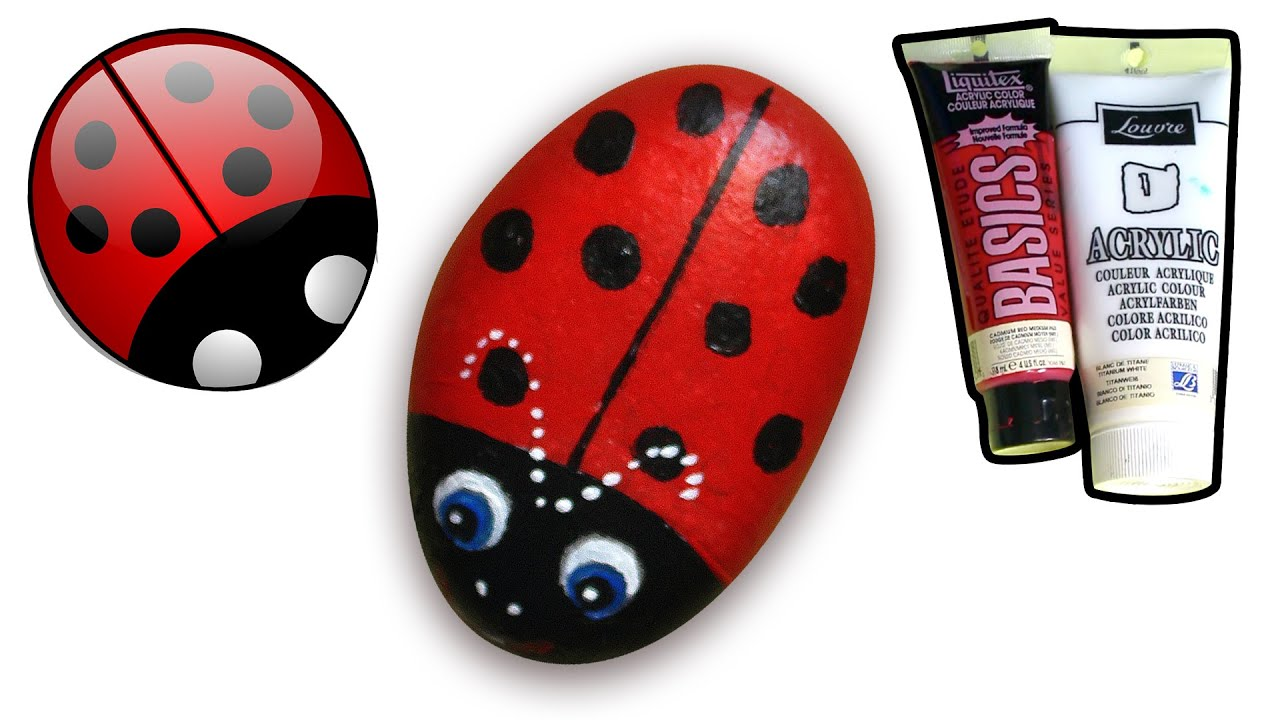 How to paint ladybug on pebblerock how to draw and color kids tv how to paint ladybug on pebblerock how to draw and color kids tv solutioingenieria Images