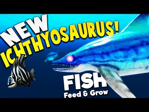 RULING THE OCEAN AS THE NEW ICHTHYOSAURUS!    Feed And Grow Fish SURVIVAL Gameplay