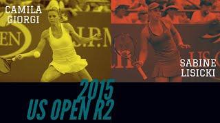 Sabine Lisicki vs Camila Giorgi - 2015 US Open R2 Highlights