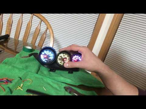 glowshift gauges wiring harness build test glowshift gauges wiring harness build test
