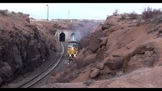 (HD) Smokin Grain Train Tunnels through 8000 feet in Wyoming