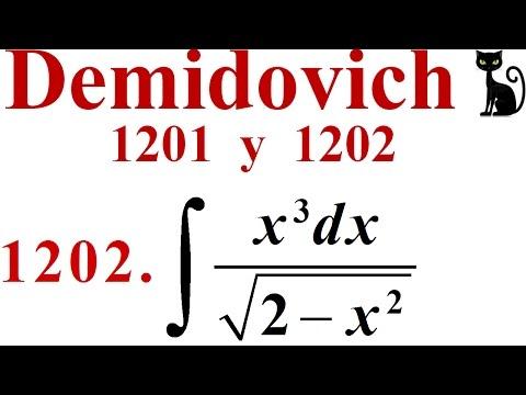 Integración Por Sustitución Trigonométrica. Demidovich 1201 Y 1202