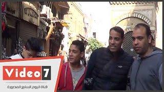 """خالد بيبو فى جلسة تصوير بشارع المعز:""""الأثار هنا محترمة و زعلان إنى أول مرة أزورها"""""""