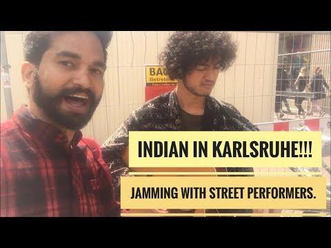 Indian in Karlsruhe, Germany !!!  Jamming With Street Performers ||  Rajnish Songara