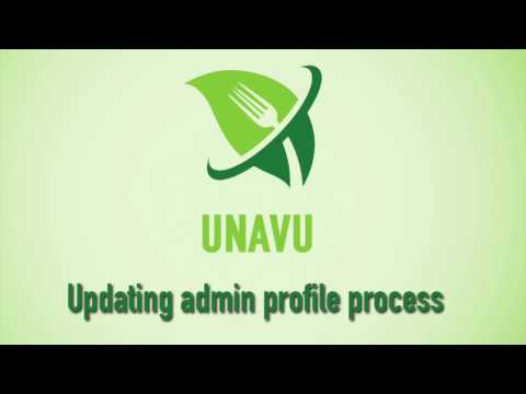 UnavuPOS Video Guide:Updating Admin Profile
