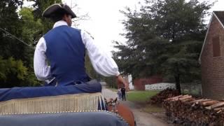 Carriage Ride Through Colonial Williamsburg, Virginia - 11th October 2014