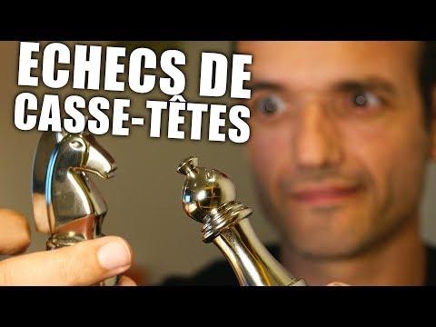 Ces pièces d'échecs sont des Casse-Têtes très originaux !