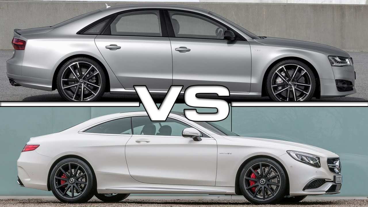 audi s8 plus vs mercedes benz s63 amg coupe - youtube