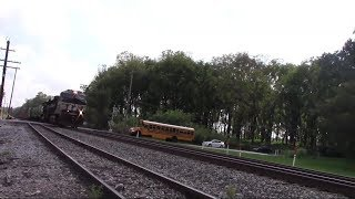 An SD70ACE on 227 and a Cat