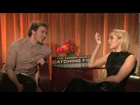 Hunger Games Sam Claflin and Jena Malone chat with Mel about their characters.
