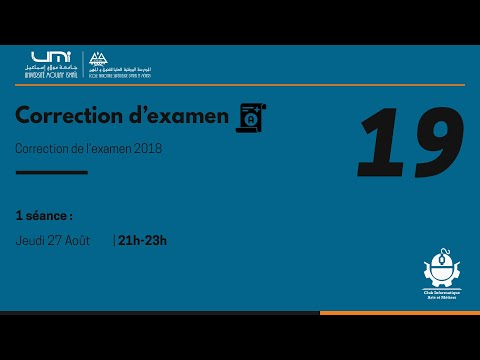Las9 19  Correction De L'exam 2018