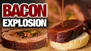 The Bacon Explosion Recipe  |  Hellthyjunkfood
