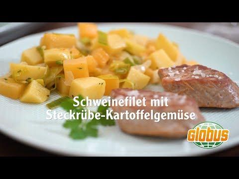 Kochen mit Globus - Schweinefilet mit Steckrübe Kartoffelgemüse ...
