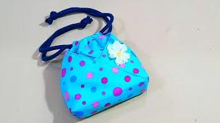 DIY Japanese Oshin Bag | Lovely Drawstring Bag Tutorial 【手作包教学】 ❤❤