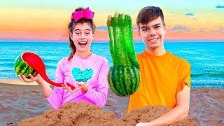 Nastya و Artem   قصة عن الوحل والمفاجآت في الرمال