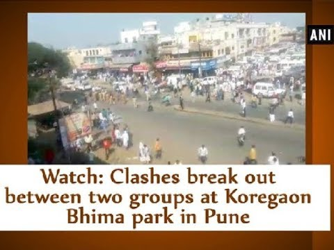 Watch: Clashes break out between two groups at Koregaon Bhima park in Pune - Maharashtra News