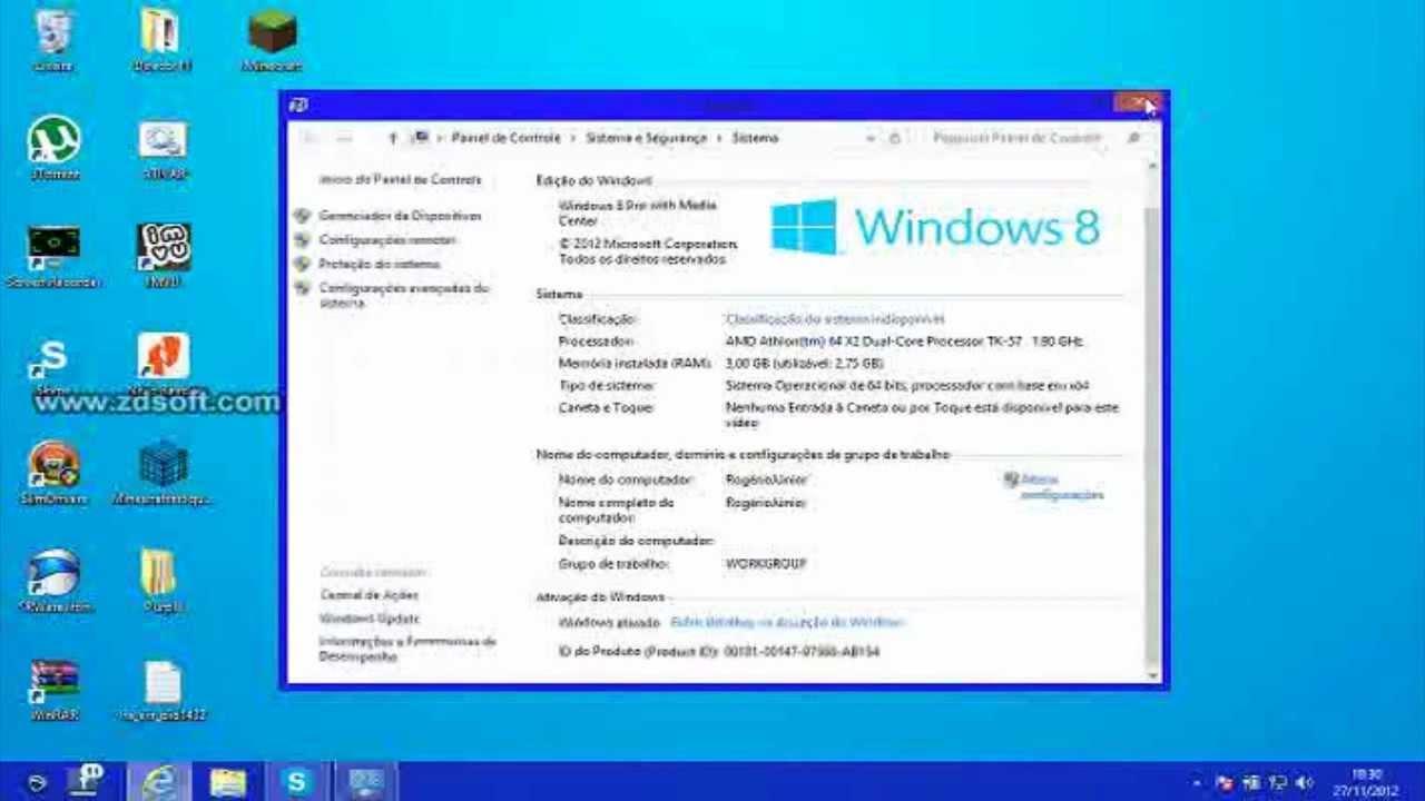 Chave para windows 8.1