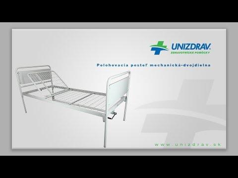 Polohovacia posteľ mechanická dvojdielna - VIDEOMANUÁL