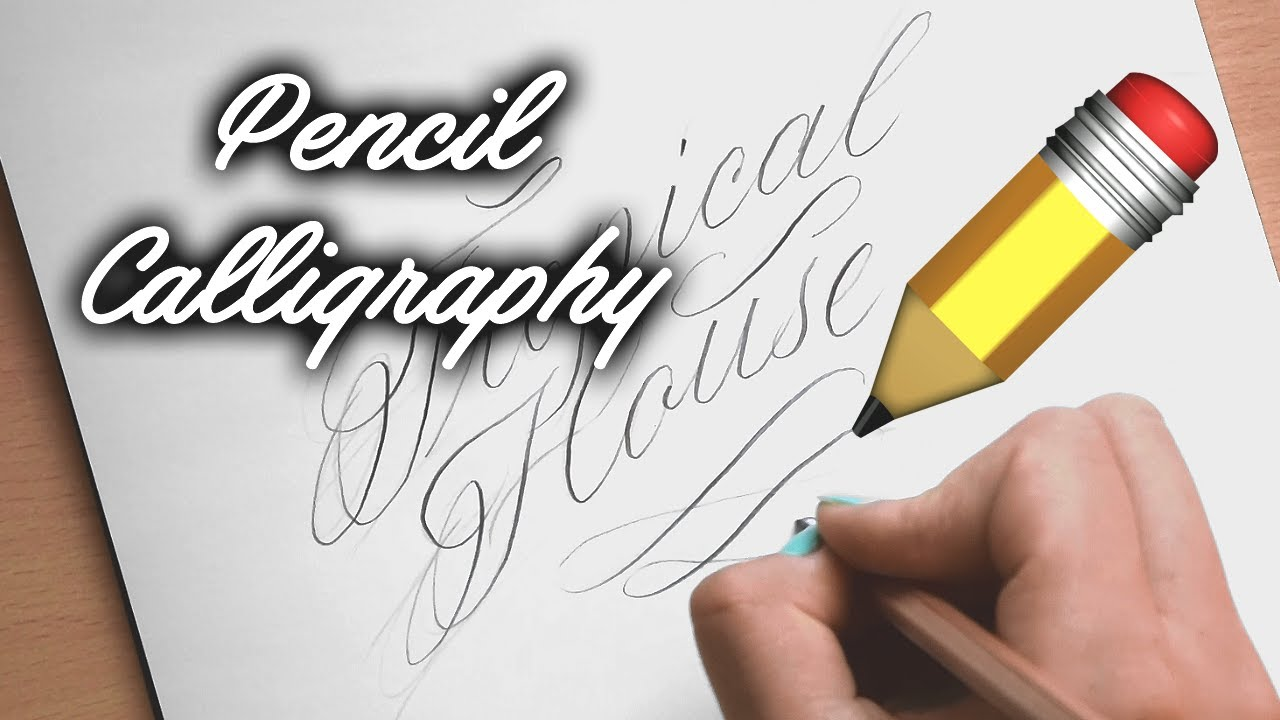 Faux Copperplate Pencil Calligraphy Adelinawrites Youtube