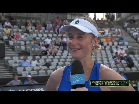 Ekaterina Makarova On Court Interview (R1) | Sydney International 2018
