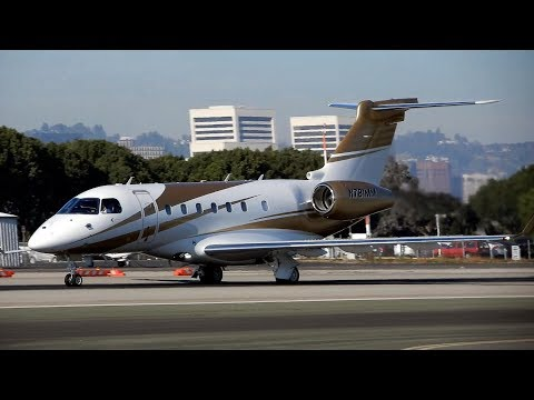 Embraer EMB-550 Legacy 500 N781MM MGM Mirage Resorts Departing Santa Monica Airport