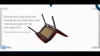 Inserting a Bookrack - PCHT Church Chairs