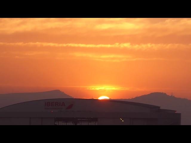 Esplèndida posta de sol des de l'aeroport del Prat - Juny 2019