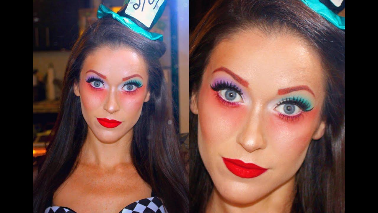 The U0026#39;Mad Hatteru0026#39; From Alice In Wonderland Halloween Makeup Tutorial - YouTube